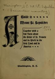 Cover of: A guide to Mount St. Sepulchre