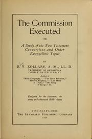 Cover of: The commission executed | E. V. Zollars