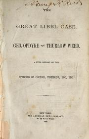 Cover of: The great libel case