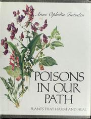 Cover of: Poisons in our path | Anne Ophelia Todd Dowden