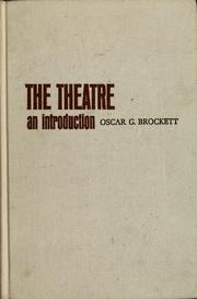 Cover of: The theatre: an introduction