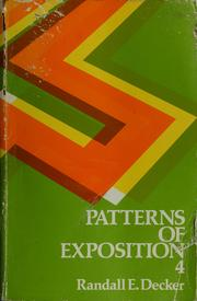 Patterns of exposition by Randall E. Decker