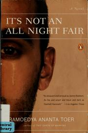 Cover of: It's not an all night fair