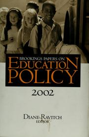 Cover of: Brookings papers on education policy, 2002 | Diane Ravitch