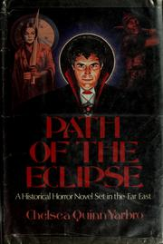 Cover of: Path of the Eclipse: a historical horror novel, fourth in the Count de Saint-Germain series