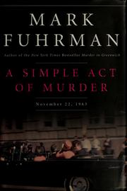 Cover of: A simple act of murder | Mark Fuhrman