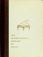 Cover of: The international library of music
