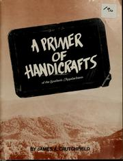 Cover of: A primer of handicrafts of the southern Appalachians
