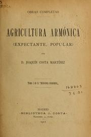 Cover of: Agricultura armonica (expectante, popular)