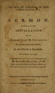 Cover of: The duty of a minister of Jesus Christ illustrated