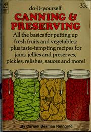 Cover of: Do-it-yourself canning & preserving
