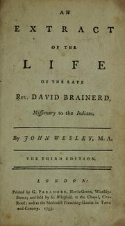 Cover of: An account of the life of the Reverend David Brainerd