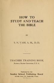 Cover of: How to study and teach the Bible