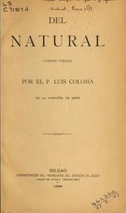 Cover of: Del natural