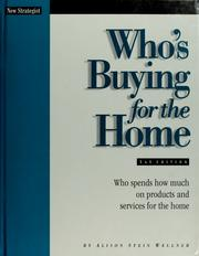 Cover of: Who's buying for the home