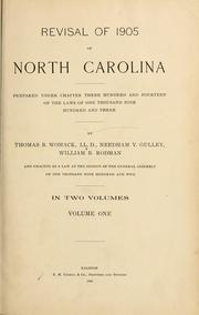 Cover of: Revisal of 1905 of North Carolina | North Carolina.