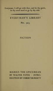 Cover of: Marius the Epicurean | Walter Pater
