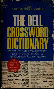 Cover of: The Dell crossword dictionary