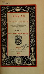 Cover of: Obras