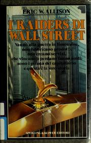 Cover of: I raiders di Wall Street