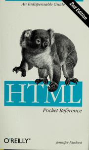 Cover of: HTML pocket reference