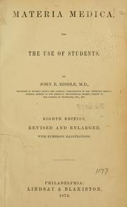 Cover of: Materia medica, for the use of students