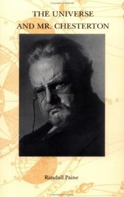 Cover of: The Universe and Mr. Chesterton | Randall Paine