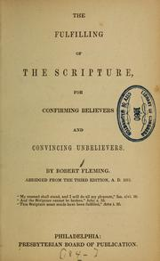 Cover of: The fulfilling of the scripture...