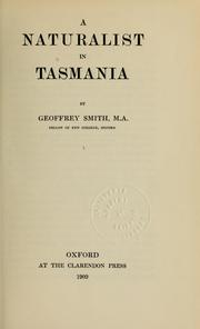 Cover of: A naturalist in Tasmania