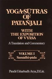 Cover of: Yoga-sūtras of Patañjali with the exposition of Vyasa | PatanМѓjali.