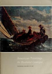 Cover of: American paintings: an illustrated catalogue.