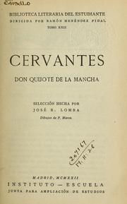 Cover of: Don Quijote de la Mancha