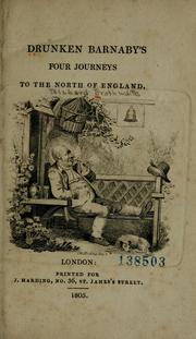 Cover of: Drunken Barnaby's four journeys to the north of England