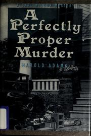 Cover of: A perfectly proper murder