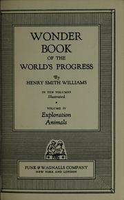 Cover of: Wonder book of the world's progress | Williams, Henry Smith