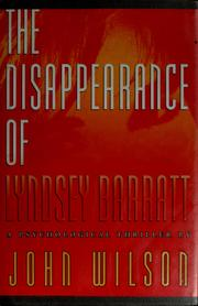 Cover of: The disappearance of Lyndsey Barratt