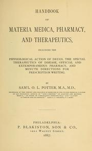 Cover of: Handbook of materia medica, pharmacy and therapeutics | Samuel O. L. Potter