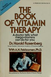 Cover of: The book of vitamin therapy