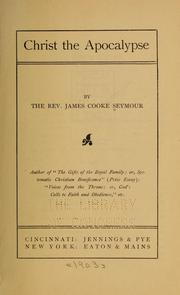 Cover of: Christ the apocalypse | James Cooke Seymour