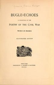 Cover of: Bugle echoes