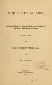 Cover of: The spiritual life | Andrew Murray