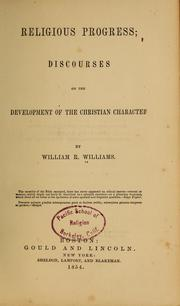 Cover of: Religious progress; discourses on the development of the Christian character