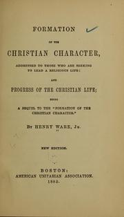 Cover of: Formation of the Christian character