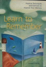Cover of: Learn to remember | Dominic O