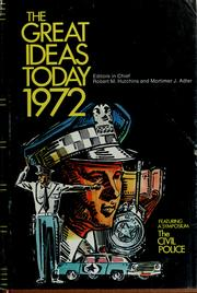 Cover of: The Great ideas of today, 1972