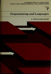 Cover of: Programming and languages