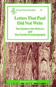 Cover of: The Letters That Paul Did Not Write | Raymond F. Collins