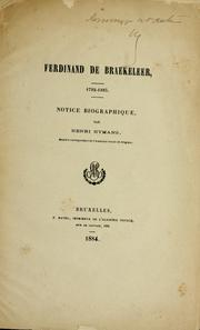Cover of: Ferdinand de Braekeleer, 1792-1883