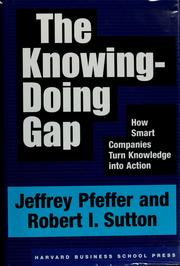 Cover of: The knowing-doing gap