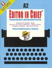 Cover of: Editor in Chief A2 | C. Block